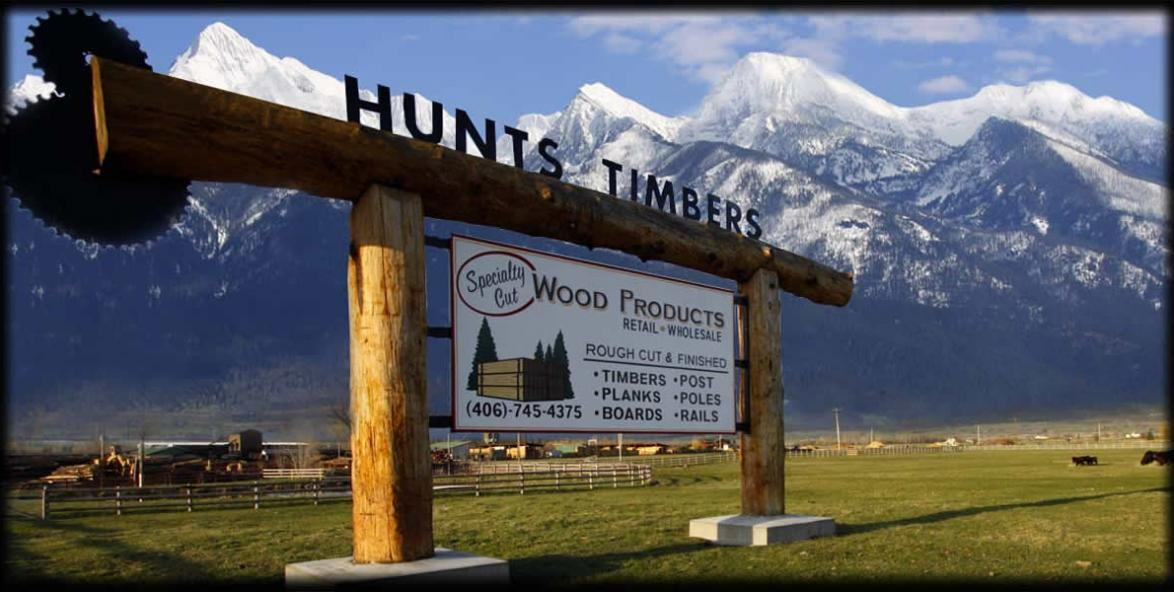 Hunts Timbers Rough Cut Lumber Mt Sawmill Mill Rough